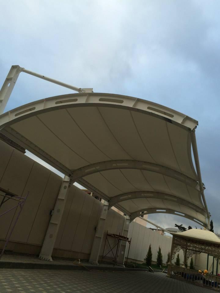 araç otopark çadırı brandası